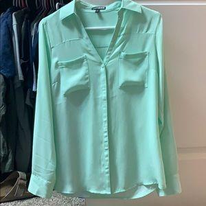 Mint button down dress shirt